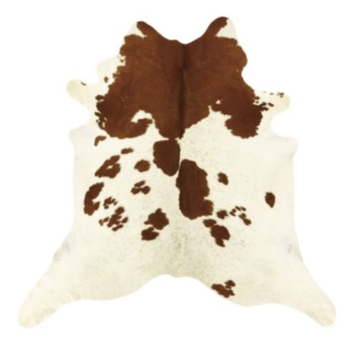 Natural Cowhide Rug | White and Brown