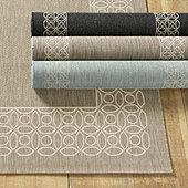 suzanne kasler geometric circle border washable kitchen rug