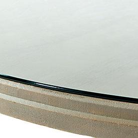 andrews pedestal dining table glass topper