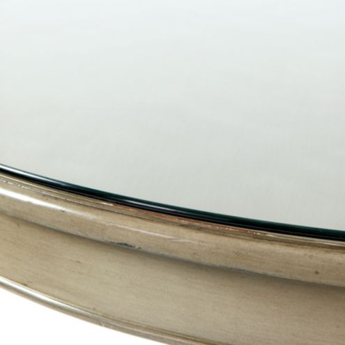 Sidney Pedestal Dining Table Glass Topper
