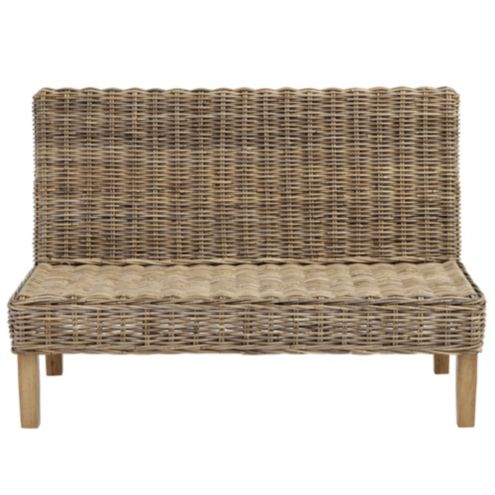 Rosalind Wicker Bench 48