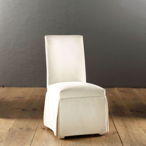 Upholstered Parsons Chair with Casters