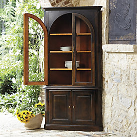 Full Chilton Curved Corner Cabinet Tall Curved Glass Cabinet