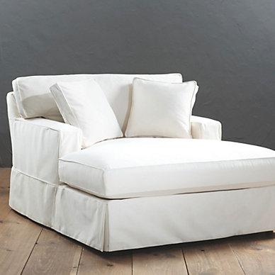 Slipcovered furniture ballard designs for Ballard designs chaise lounge