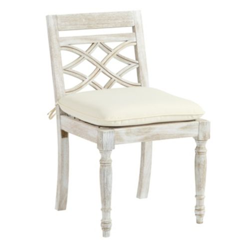 Ceylon Whitewash Dining Side Chair