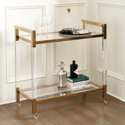 Hallen Acrylic Bar Cart