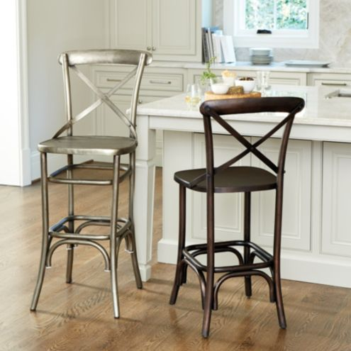 Genoa Barstool With Fabric Seat Stools Ballard Designs