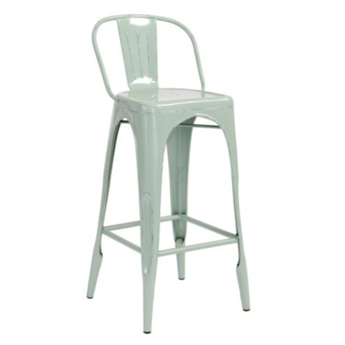 Marian Metal Barstool with Cushion