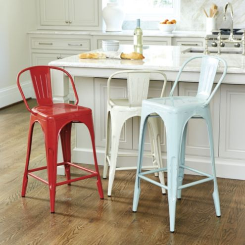 Marian Metal Counter Stool with Cushion