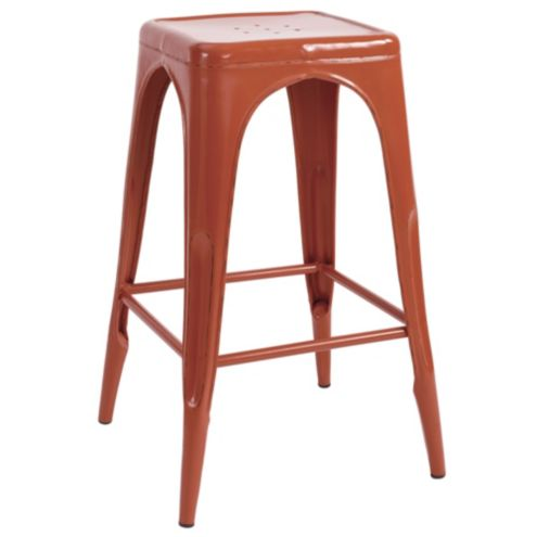 Marian Metal Backless Barstool