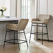 bailey woven stools - Seagrass Bar Stools