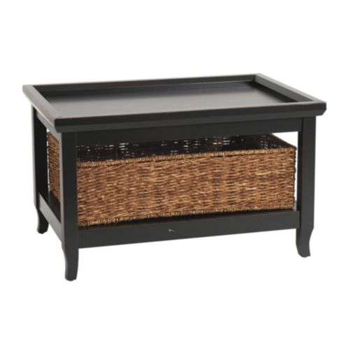 Morgan Small Cocktail Table with Basket