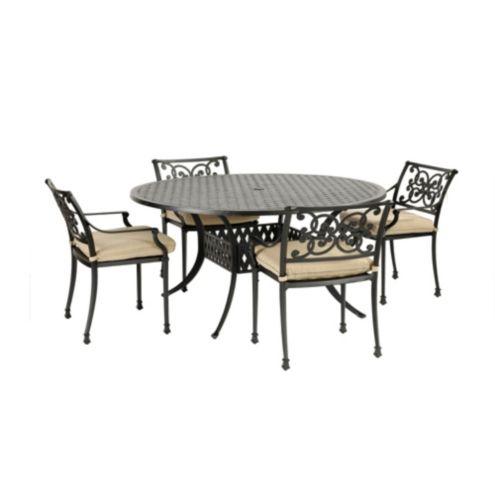 Amalfi 5-Piece Round Dining Set - 60 inch