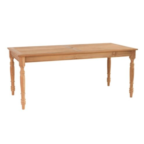 Teak Ceylon Outdoor Rectangular Dining Table | European-Inspired