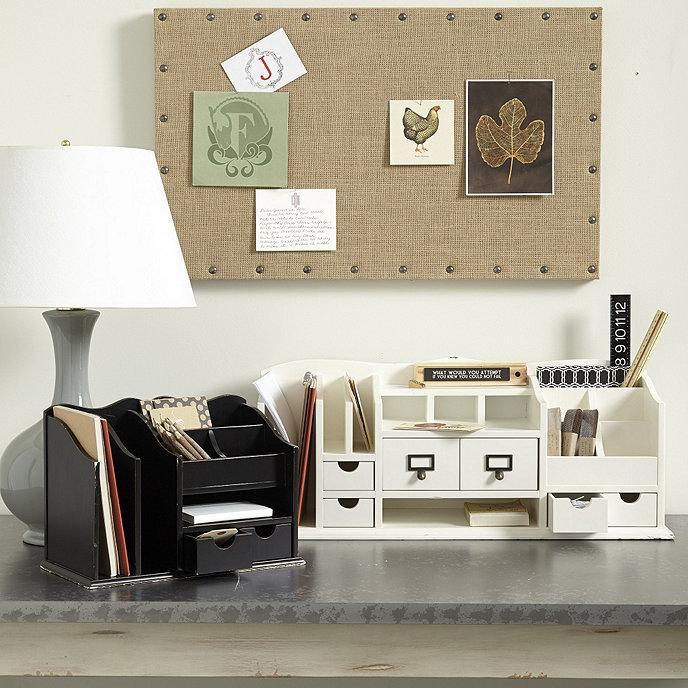 Original home office desk organizers ballard designs - Make your own desk organizer ...