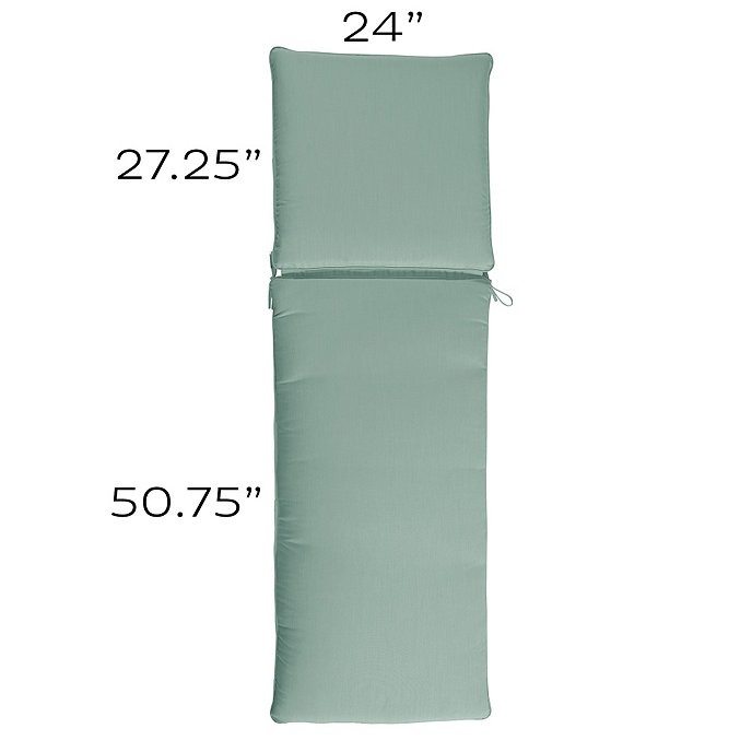 Outdoor chaise cushion s box edge welts european for Box edge chaise cushion