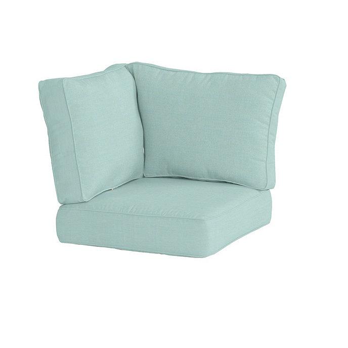 Deep seat corner cushion set european inspired home - Deep seat patio cushions replacements ...