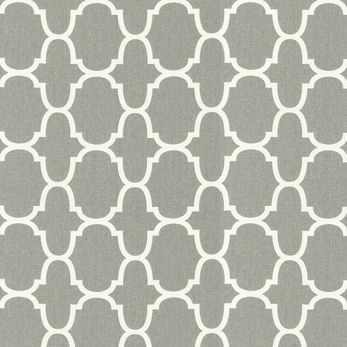 Trellis Gray Fabric by the Yard