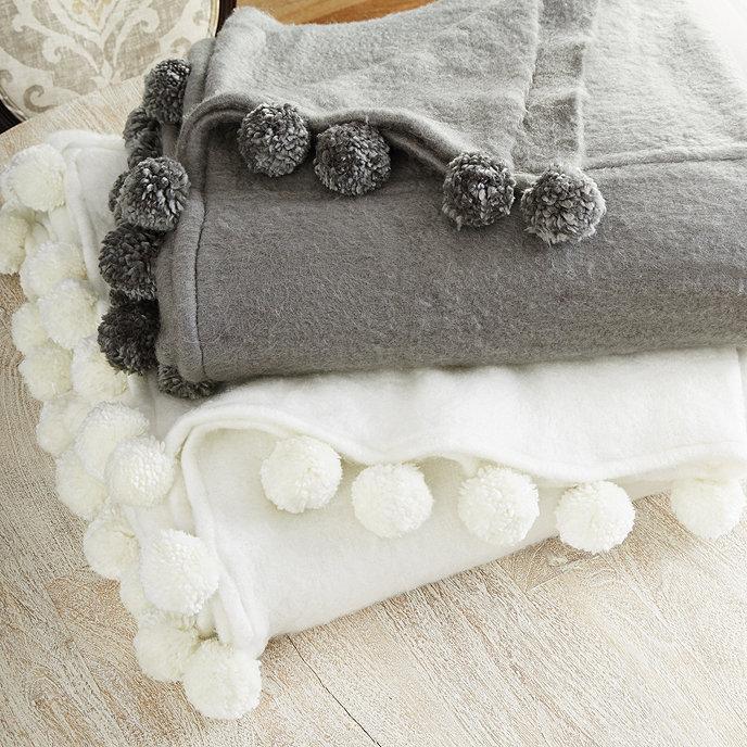 Moroccan Pom Pom Blanket Ballard Designs