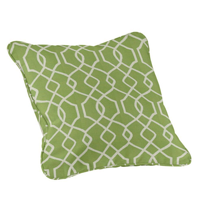 Outdoor Piped Throw Pillows