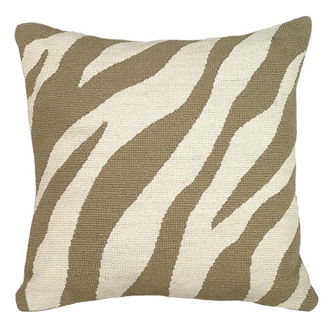 Animal Print Needlepoint Pillows : Zebra Needlepoint Pillow - Zebra Pillow - Zebra Pattern Pillow - Zebra Print Pillow
