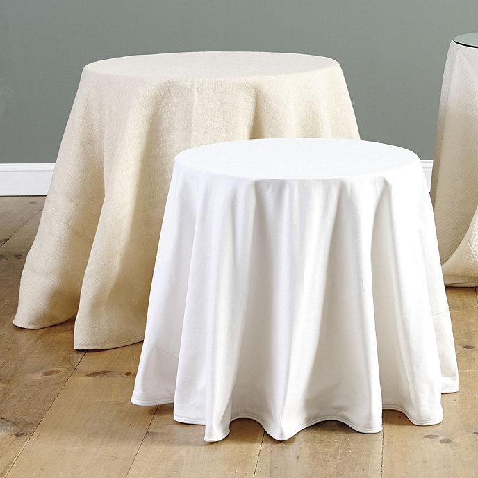 Ballard essential tablecloths for 108 inch round tablecloth fits what size table
