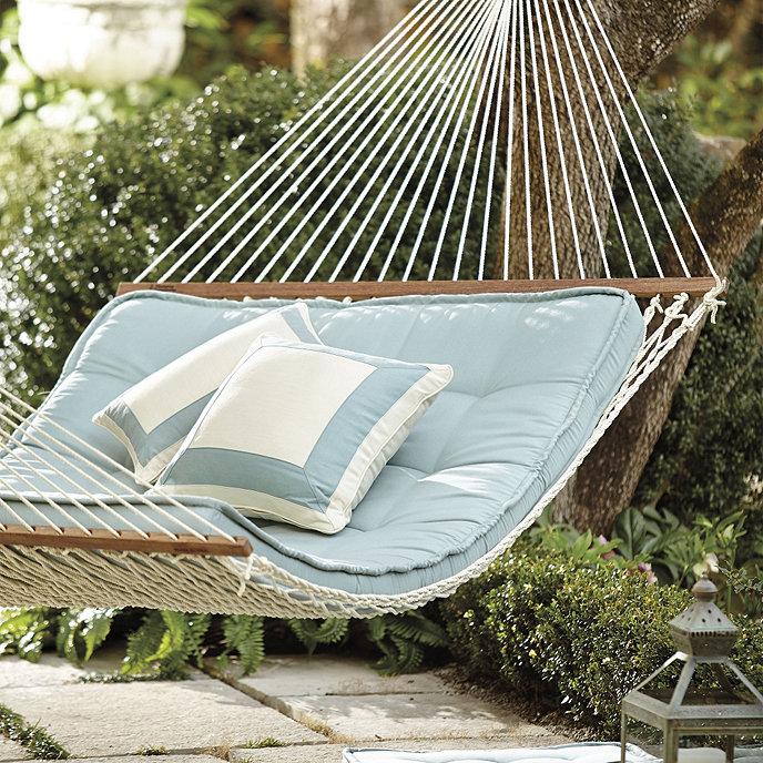 Farmhouse hammock cushion for Make a rope hammock