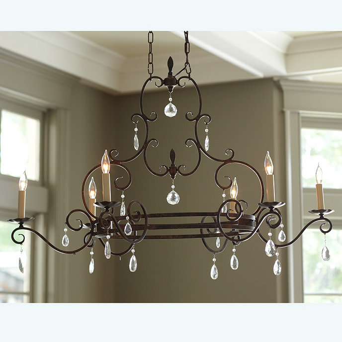 Ballards Lighting: Waldorf 6-Light Oval Chandelier