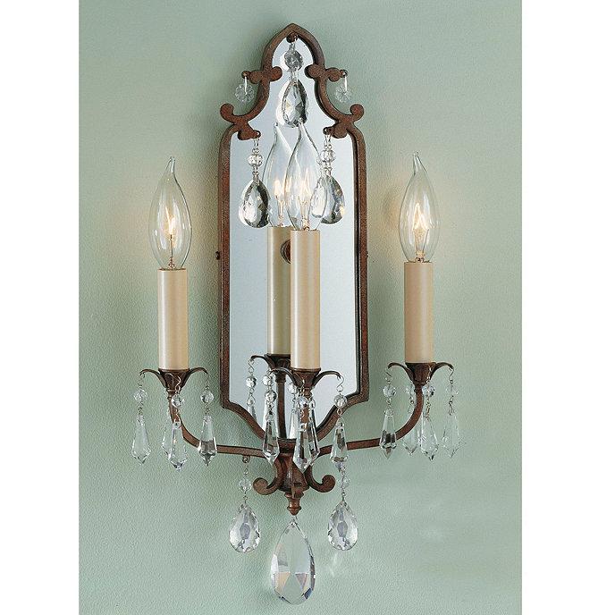 Verdi 3-Light Mirrored Sconce