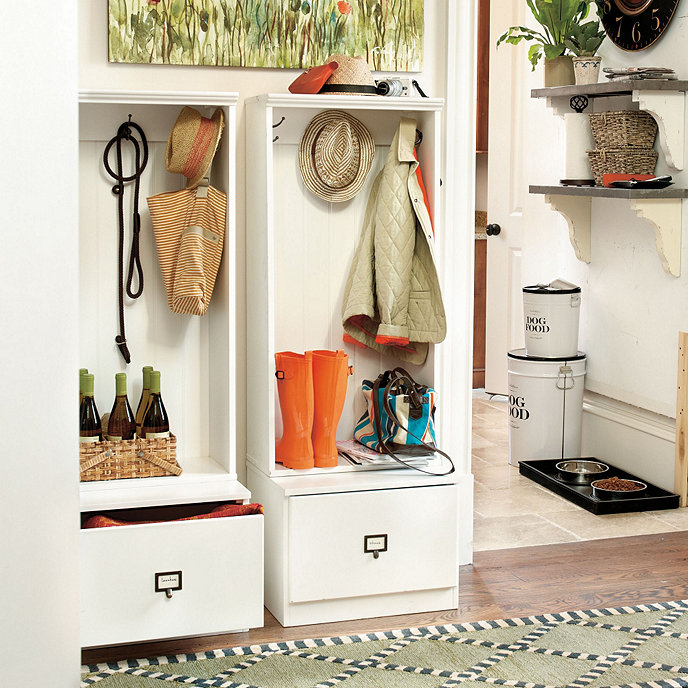 Adding Beadboard To Kitchen Cabinets: Triple Beadboard Entry Cabinet