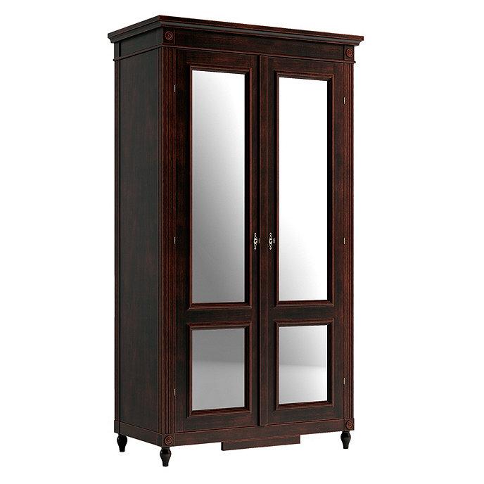casa florentina louis xvi armoire with mirrored doors. Black Bedroom Furniture Sets. Home Design Ideas