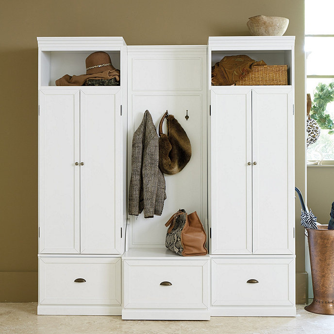 Owen entryway cabinet bench for Foyer cabinet design