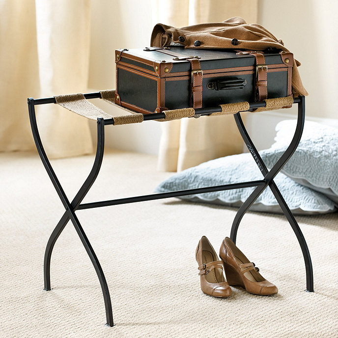 Gaspar Luggage Rack Furniture Ballard Designs