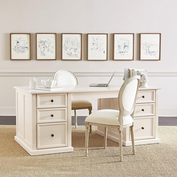 tuscan double pedestal desk ballard designs