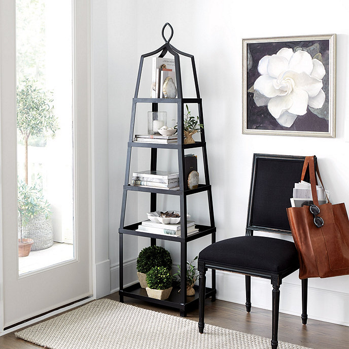Grand tour etagere furniture ballard designs for Dining room etagere
