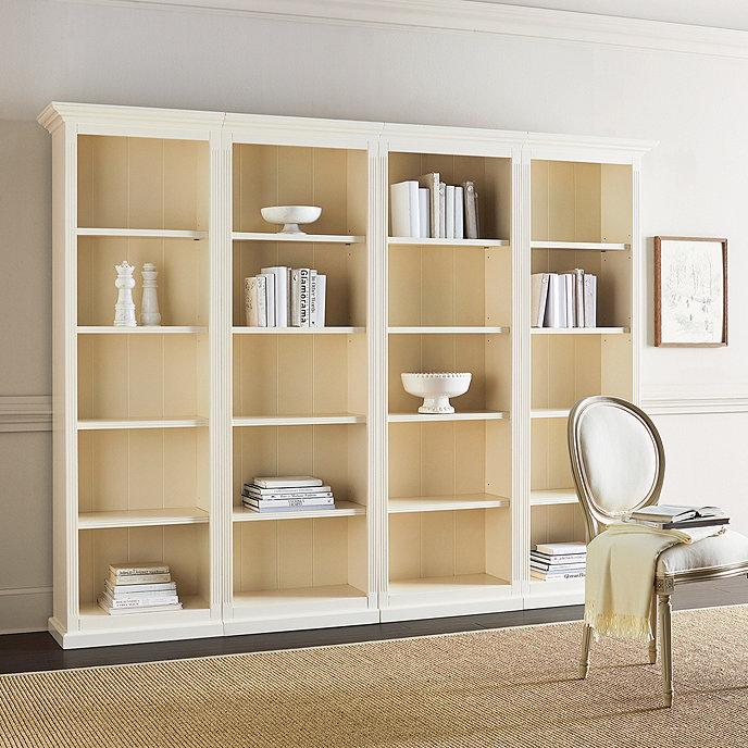 Tuscan Flush Bookcases - Set of 4 - Set Of 4 Tuscan Flush Bookcases Ballard Designs