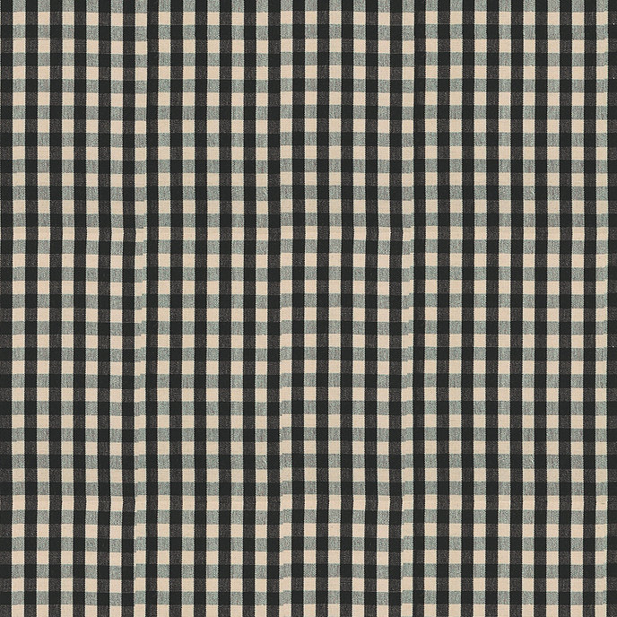 small check black fabric by the yard check small