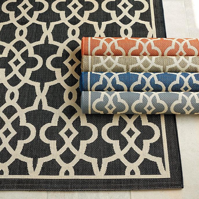 Beaufort indoor outdoor rug ballard designs for Outdoor rug