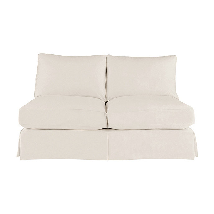 Baldwin Armless Loveseat Slipcover And Frame Ballard Designs