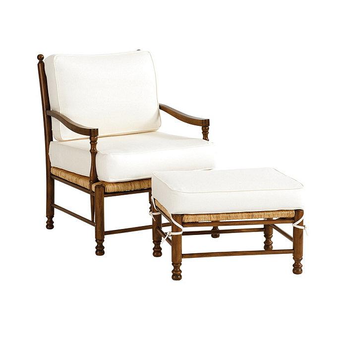 Toulon Chair and Ottoman | Ballard Designs