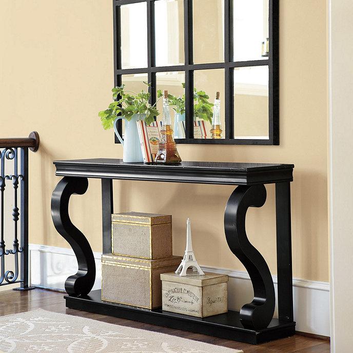 Benedetta console 58 inch ballard designs for Ballard designs dining room