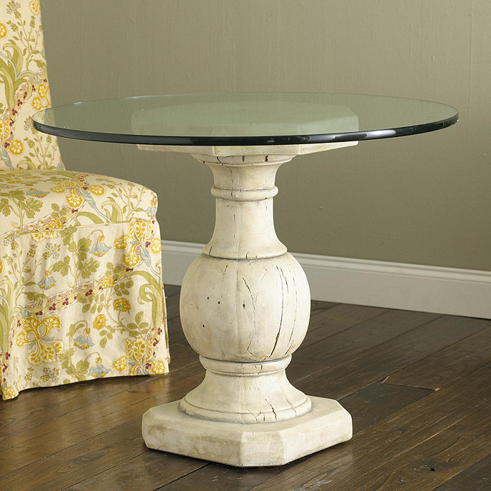 Baluster base with glass ballard designs for Wood balusters for tables