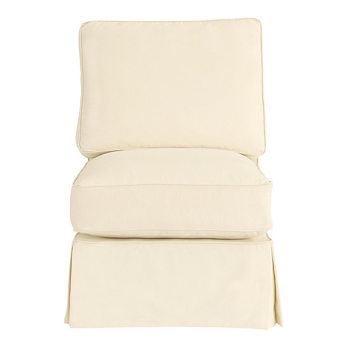 Davenport Armless Club Chair Slipcover Special Order