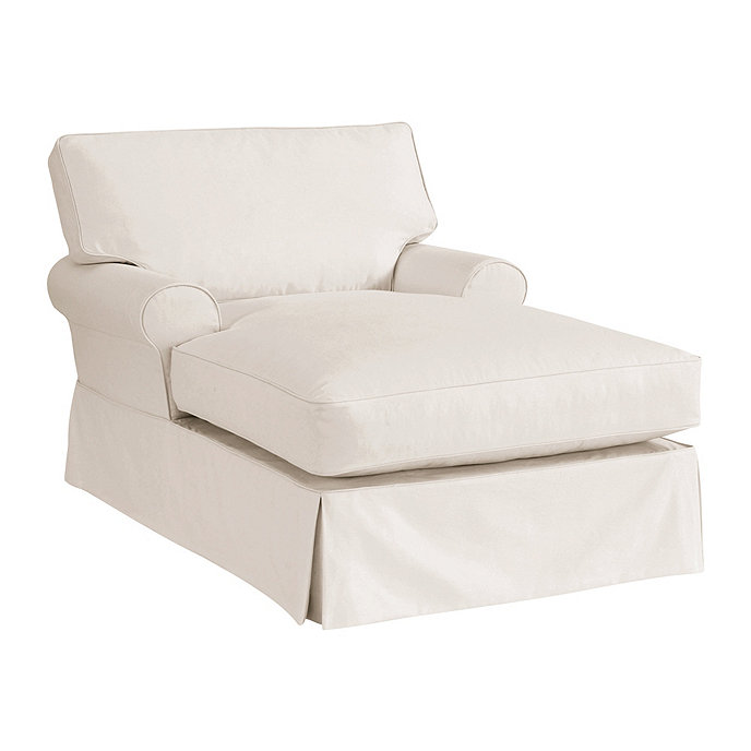 Davenport chaise slipcover special order fabrics for Ballard designs chaise lounge