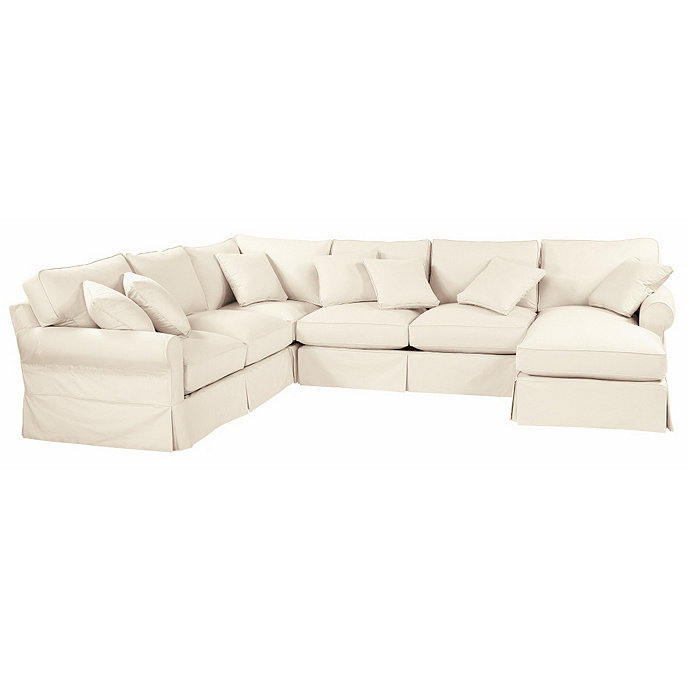 Baldwin 4 Piece Sectional Slipcover Right Arm Chaise Left Arm Loveseat Armless Loveseat