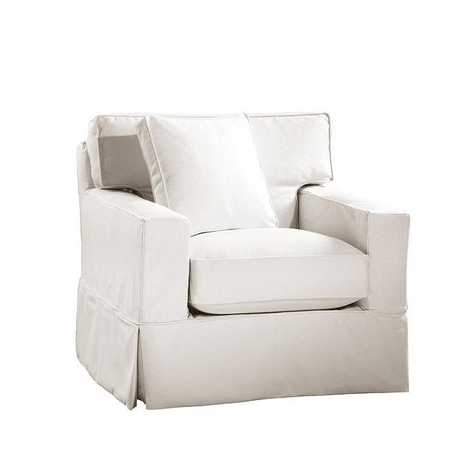 Graham Swivel Chair Slipcover | Ballard Designs
