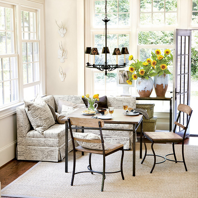 Does anyone have banquette seating in their kitchen for Ballard designs bench seating