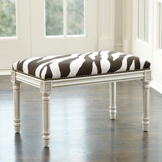 Zebra Needlepoint Bench
