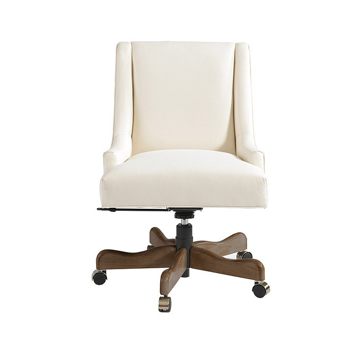 adjustable upholstered desk chairs ballard designs gramercy desk chair