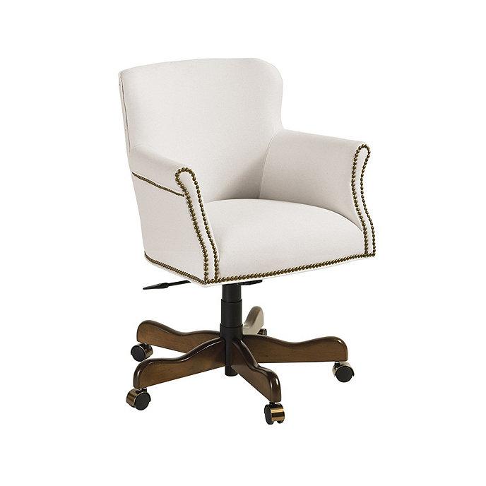 Pennington Desk Chair with Brass Nailheads